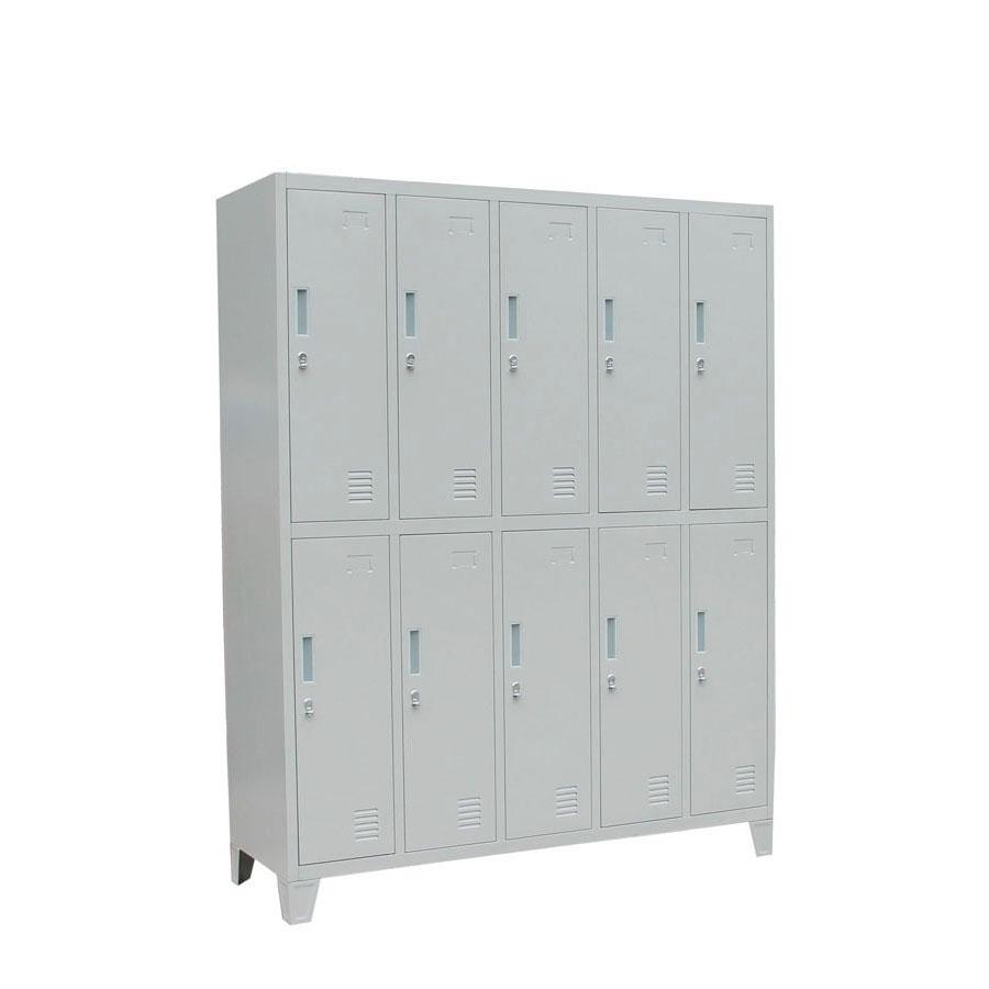 Sports Gym School Changing Room 10 Doors Storage Wardrobe Steel Cabinet Locker Metal  Closet  Worker Locker