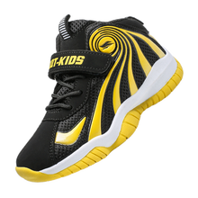 Детские кроссовки с нескользящей резиновой подошвой, черные баскетбольные кроссовки для мальчиков, детская спортивная обувь для улицы, кро...(Китай)