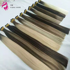 2019-2020 ali express hot selling beauty colour virgin remy double drawn cuticle aligned stick I tip remy hair extensions