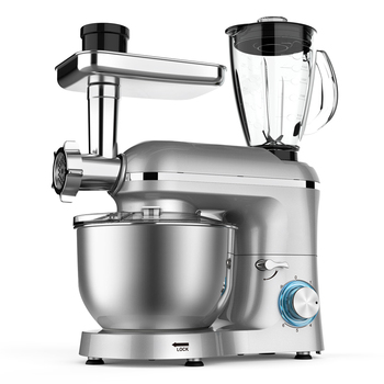 Amazon Hot Selling SANLIDA 1500W 5.5L Stainless Steel Bowl Dough Kneading Machine Stand Mixer Kitchen Planetary Food Mixer