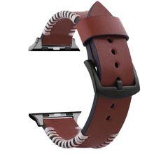Высококачественный ремешок для часов из натуральной кожи для Apple Watch 5 4, мужской ремешок для iWatch 5 4 38/40 мм, браслет, 42/44(Китай)