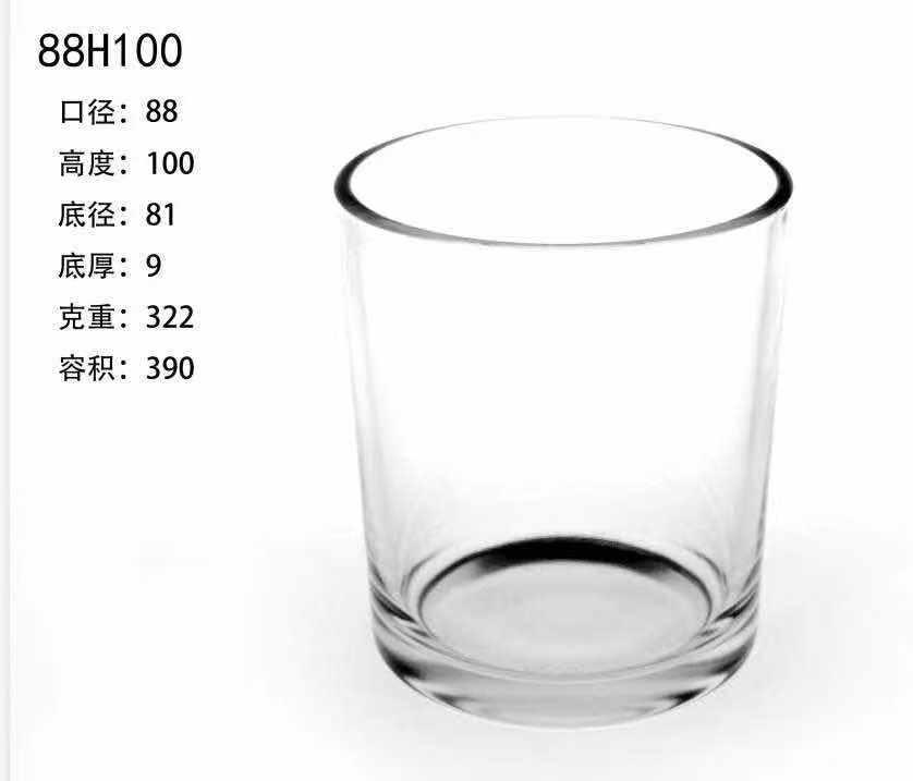 Высококачественная стеклянная банка для свечей 8 унций 8 унций