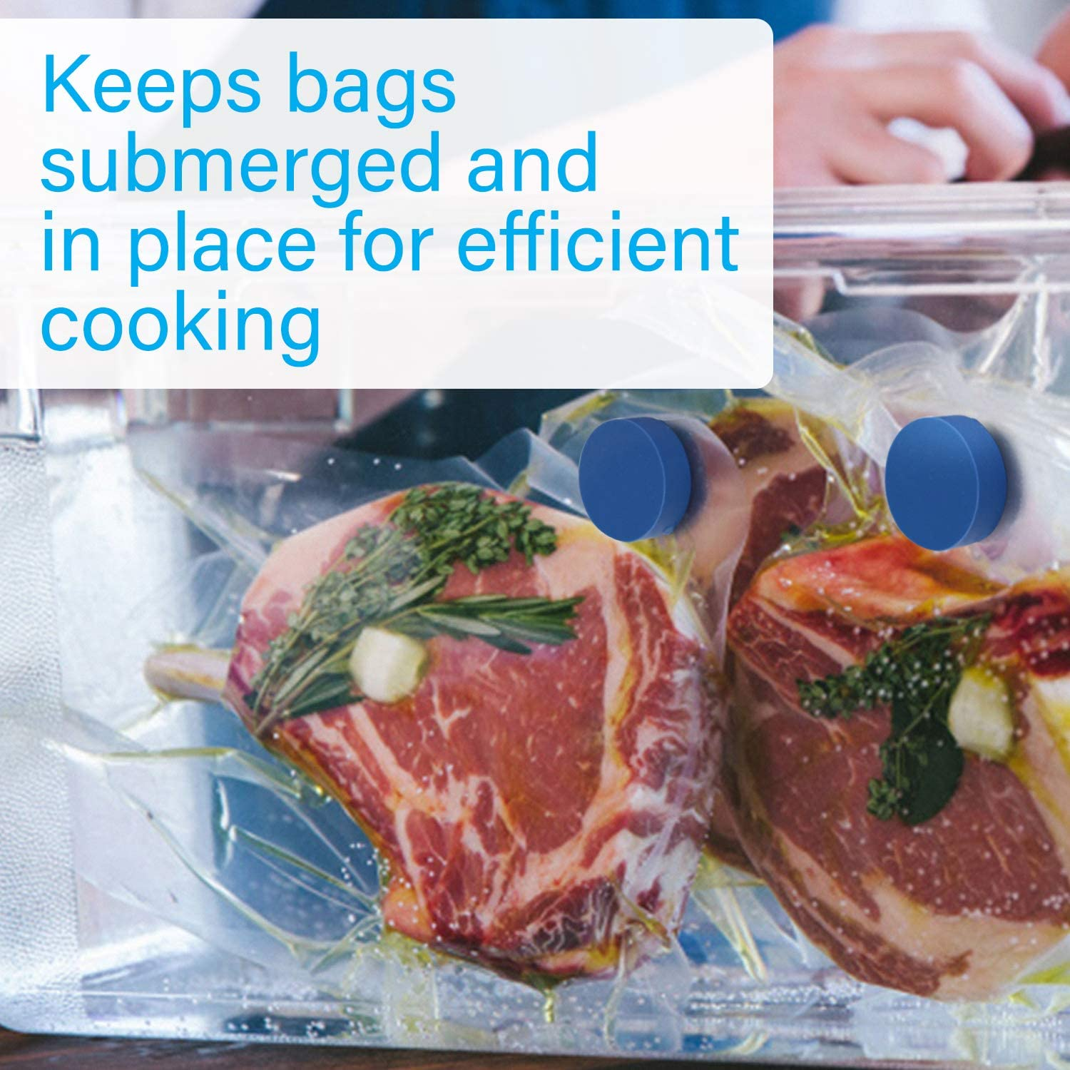 Sous Vide Magnets to Keep Bags Submerged and In Place Accessories to Stop Floating Bags and Undercooking weights
