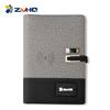 GRAY wireless power bank notebook+pen+usb