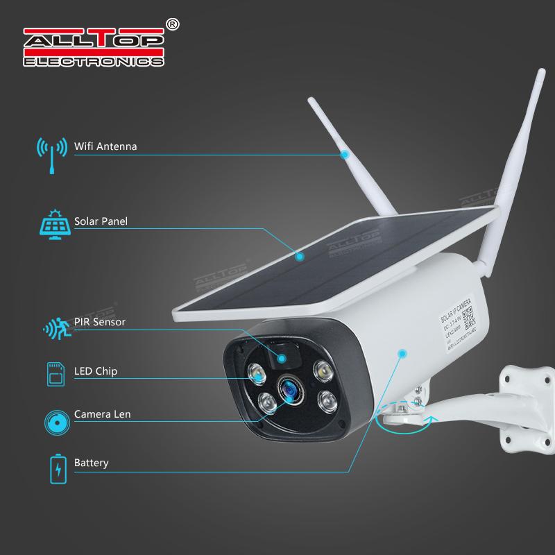 ALLTOP на открытом воздухе 1080P ночное видение панель солнечной энергии разъем для карты TF 4G wi-fi беспроводной солнечной камеры видеонаблюдения