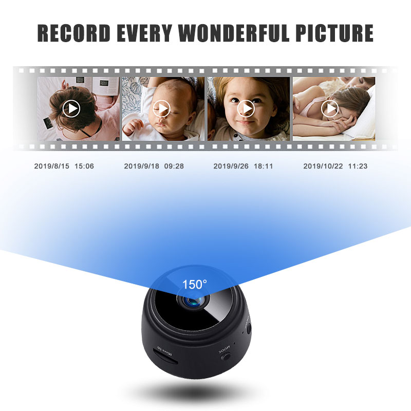 A9 Mini Wireless Camera 2.4GHz WiFi 1080P Home Security-Camera Night Vision Wireless Remote Motion Detection Video Camera