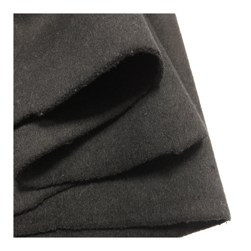 factory direct selling black blend reversible plain 60%wool fabric for warm overcoat