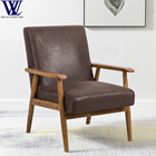 Chair Armchair Accent Chair Frame Wood Solid Wood Style Living Room Modern Furniture