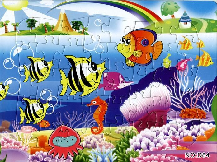 40 штук бумажный пазл Diy игрушки подводный мир головоломки для детей