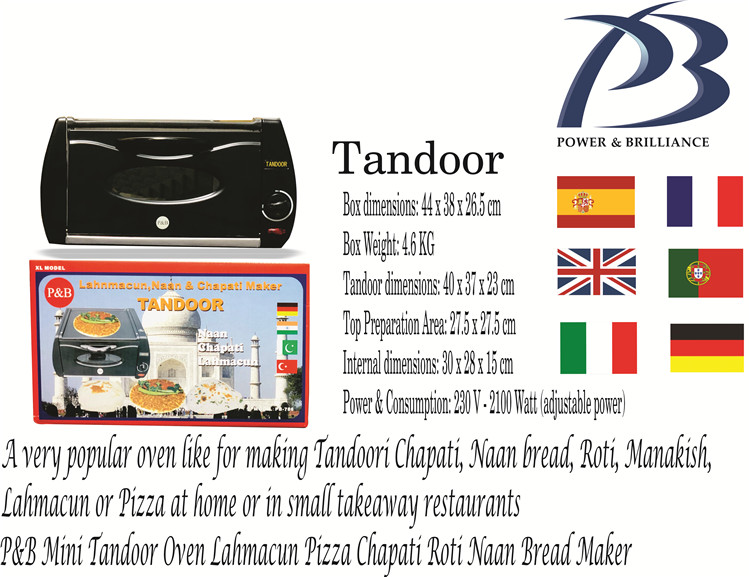 2100W Mini Electric Tandoor Oven for Germany / Uk / Europe