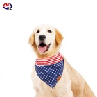 Triangle Scarfs Colorful Pattern Cotton Pet Dog Triangle Bandana Dog Christmas Pet Dog Bow Tie Collar Head Scarfs