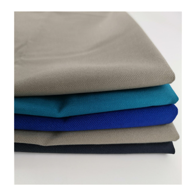 Solid 240gsm work wear fabric cotton 20*16 128*60 twill fabric