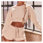 Sweat Suits Wholesale Women's 2 Piece Set Tracksuits Hoodie Tops Shorts Sweat Suits Casual Outfits Custom Tracksuit
