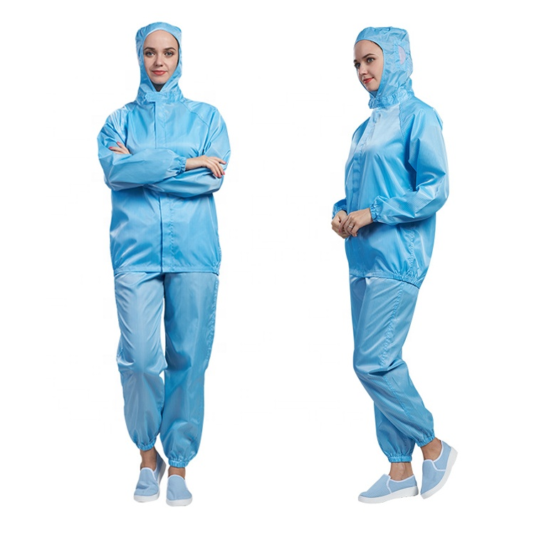 Cleanroom blue sterile esd anti-static suit - KingCare | KingCare.net