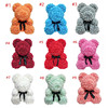 25cm  rose bear without heart