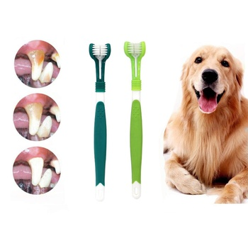 3D Double Sided Cleaning Health Dental Teeth Care Dog Toothbrush Grooming Set for Molar Dogs Pets Cats
