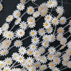 10mm 12mm Natural Flower Daisy Charm Mother Of Pearl Shell Beads For Making Jewellery