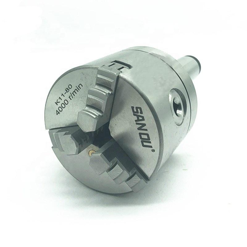 Morse taper MT3 lathe chuck 3 jaw chuck 4 inch for sales