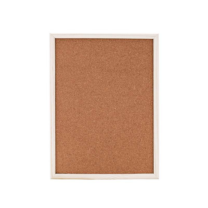 Wholesale size 24*36 inch bulletin board cork with wood frame Memo Boards cork board