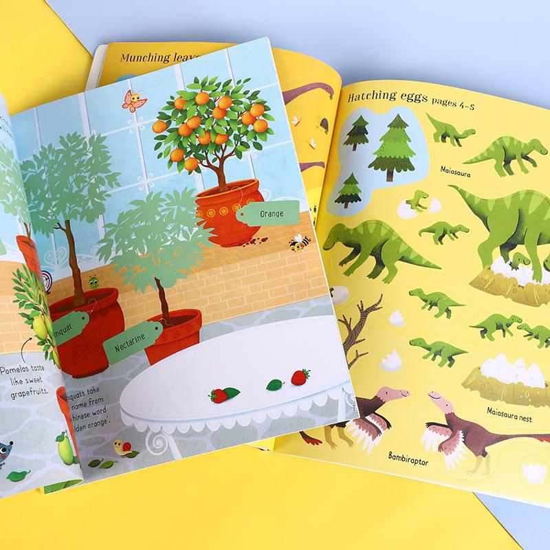 USBORNE books first sticker book series childrens book