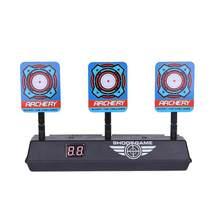 Для игрушек Nerf Shoot Target, детский звуковой светильник, высокоточная игра для стрельбы, АВТОСБРОС, электропистолет, аксессуары для мишеней(Китай)
