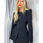 Suit Fast Delivery Excellent Quality Youth Women Black Suit Jacket For Ladies
