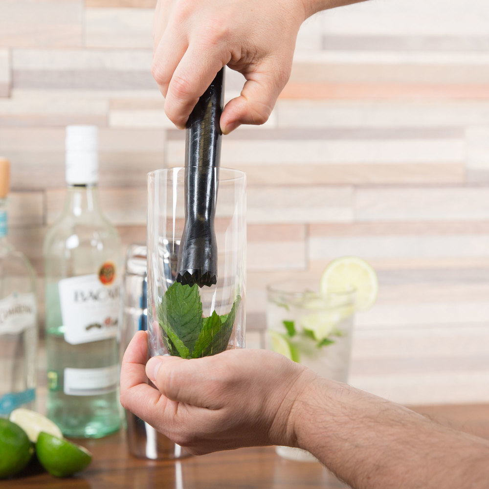 Bar accessories set plastic ice glass cocktail muddler