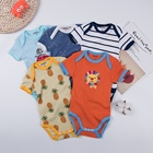 Newborn baby clothes soft cotton custom print designs infants baby rompers