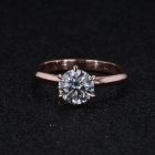 custom design women 14K Rose Gold super White 1ct moissanite engagement ring