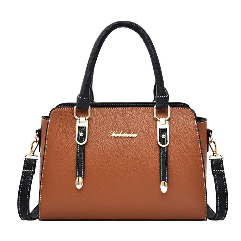 Factory Wholesale Custom PU leather women hand bags ladies tote shoulder bag ladies handbags