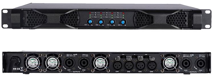 1u цифровой усилитель профессиональный сценический усилитель мощности аудио 4x1200 вт мощный профессиональный усилитель (D4120)