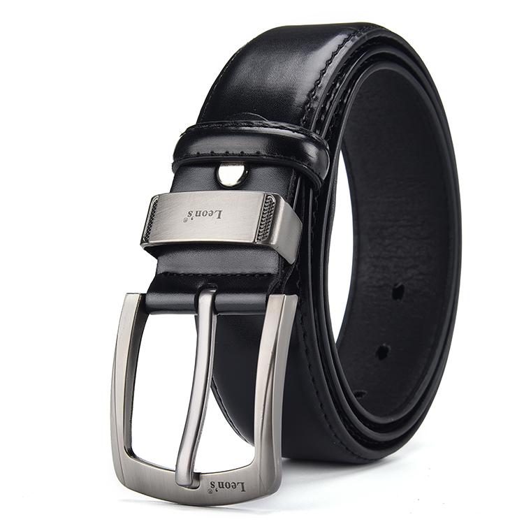 Custom High Quality Pin Buckle Belt Leather Spraying Process Man PU Belt
