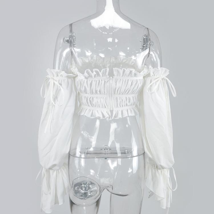 Женские плиссированные блузки с открытыми плечами на шнуровке и топы, женские топы, женские блузки с бабочками и длинным рукавом, женская блузка
