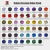 47 colors CZ for choose