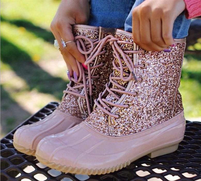 Wholesale Personalized Women's Short Leopard Waterproof Duck Rain Boots