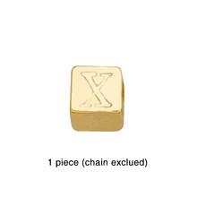 Черный кубический браслет с буквами для мужчин, заполненный золотом 26 Браслеты с буквами 2020 CZ позолоченные ювелирные украшения DIY начальные...(Китай)