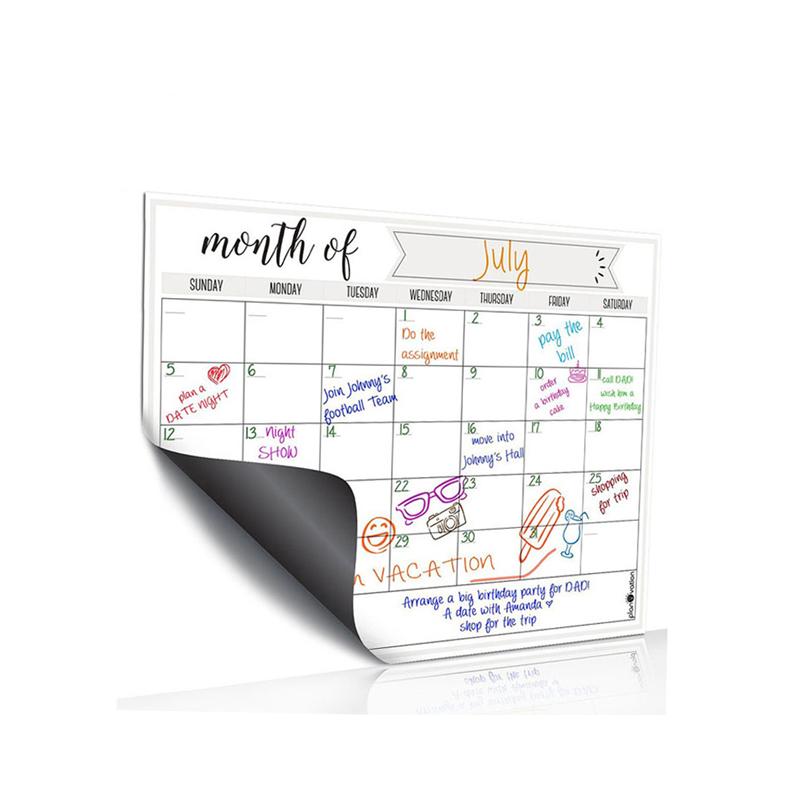 Soft Rubber 16*12'' Popular White Board Business Card Peel And Stick Magnet Planner Dry Erase Magnetic Fridge Calendar - Yola WhiteBoard | szyola.net