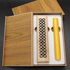 Incense Set Carving Hollow Bamboo Incense Burner Incense Tube Set With Wooden Box Packaging