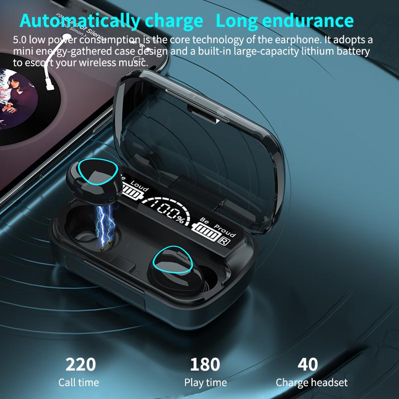 Новинка M10 TWS BT5.1 наушники Hifi стерео музыка водонепроницаемые 3D сенсорные наушники m10a беспроводные наушники