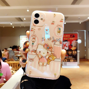 Suitable for iPhone 12 6plus 12 12plus 3D case for Hello Kitty Mouse cute cartoon tpu phone case