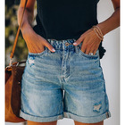 Summer Sexy Hot Shorts Washed Jeans Ripped Denim Shorts High Waist Women Short Jeans