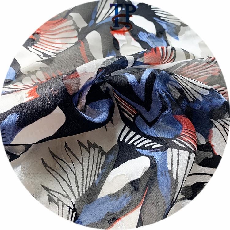 Шелковая вискозная Смешанная сгоревшая шелковая ткань с принтом для Маскарадного платья