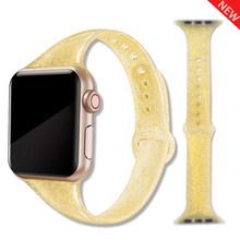 Ремешок для apple watch 4 полосы 44 мм 40 мм наручных часов iwatch, 4 полос 40 мм, 38 мм, спортивный силиконовый браслет, ремешок для наручных часов часы 5/3/2/...(Китай)