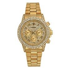 Дропшиппинг роскошные часы с бриллиантами Топ бренд модные часы мужские Кварцевые водонепроницаемые 18 К золотые часы хронограф Rolexable наруч...(Китай)