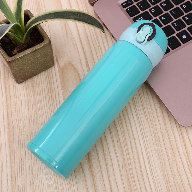 Колбы, вакуумный изолированный термос, оптовая продажа, логотип на заказ, Офисная бутылка 500 мл, фляжка для воды из нержавеющей стали 304, вакуумная