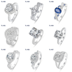 Silver Rings Silver Heart Shape 925 Sterling Silver Rings Wedding Rings For Couple