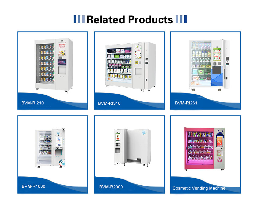 SNBC BVM-RI310 New Business Ideas Vending Machine For Foods And Drinks Flowers Black Vending Machine For Sale  Cosmetics