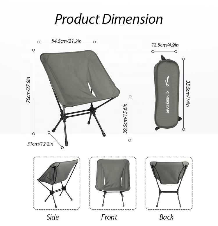 Маленький красивый дешевый складной стул Moon Garden для пикника кемпинга рыбалки с алюминиевой рамой 7075