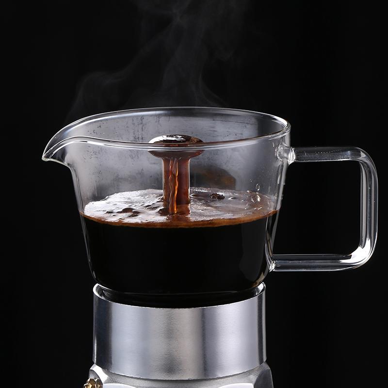 Кофеварка для эспрессо, классический алюминиевый кофейник в итальянском стиле, черный/красный цвет, на заказ