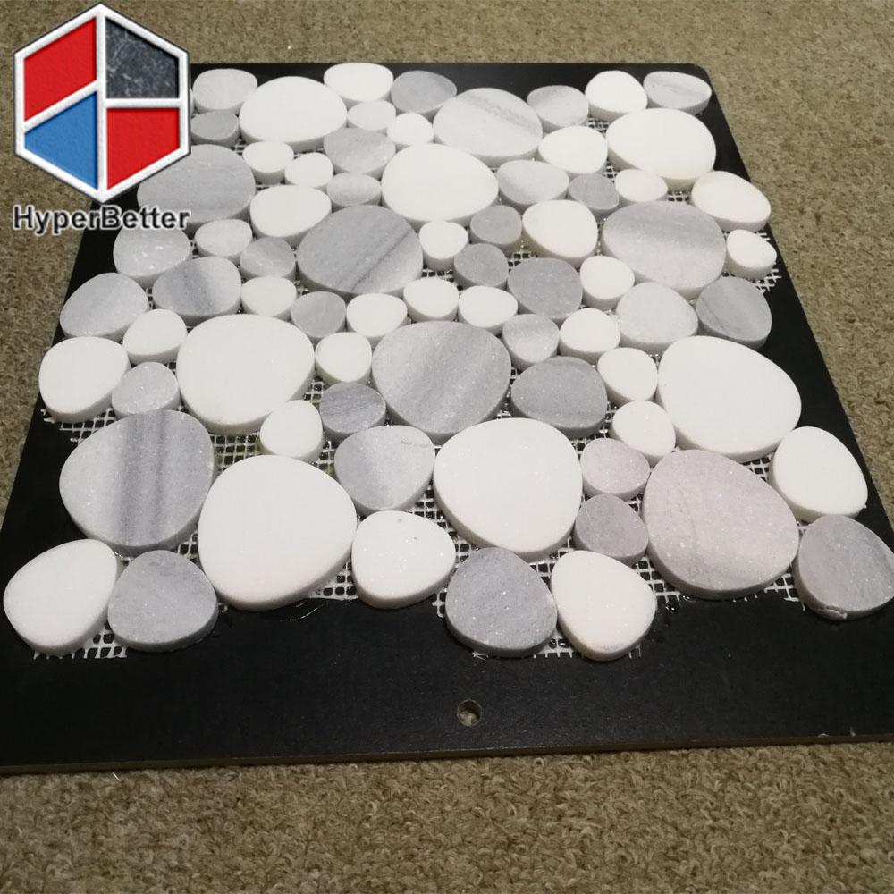 water drop snow white marble mosaic tiles